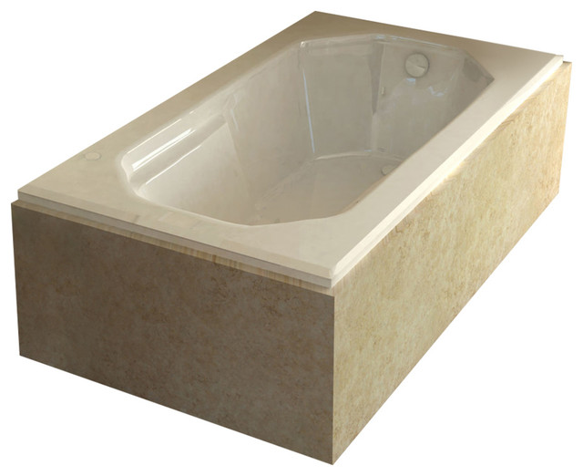 Whirlpools Mirage 36 X 60 Rectangular Air Jetted Bathtub, Left    Contemporary   Bathtubs   By SpaWorld Corp