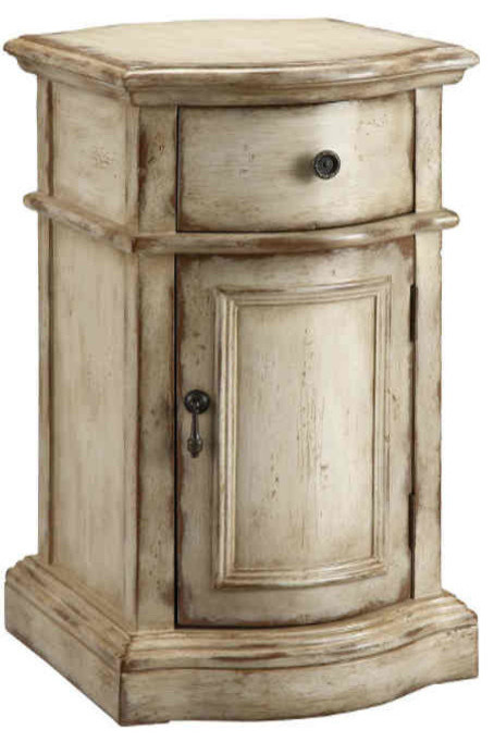Stein World Heidi Accent Cabinet, Brown, Antique White 57272
