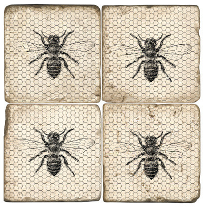 Bee Coasters Set Of 4 Transitional Coasters By Step