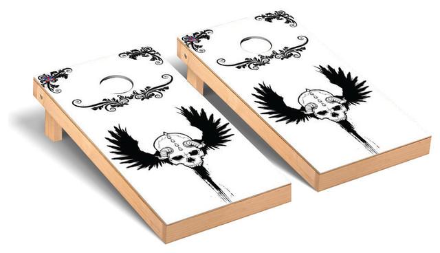 Superb Skull Wing Regulation Cornhole Bean Bag Toss Game Creativecarmelina Interior Chair Design Creativecarmelinacom