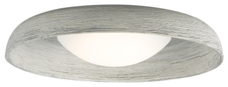 Karam Flush Mount Ceiling Light, Led, Concrete.