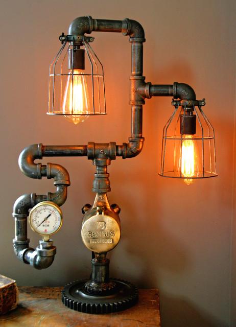 Steampunk Gear Steam Gauge Lamp