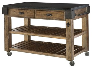2 drawer kitchen island industrial kitchen islands and kitchen carts by shopladder - Kitchen Carts