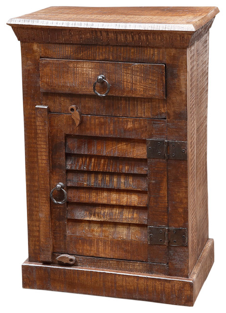 Troy Shutter Door And Drawer Night Stand Contemporary