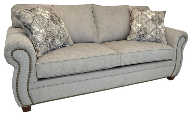 Gia Light Grey Fabric Sofa With