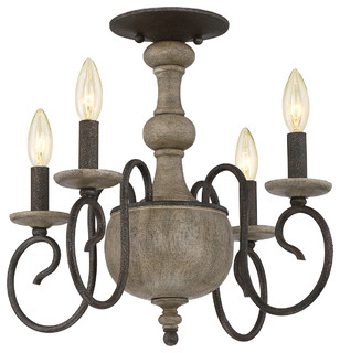 Luxury French Country Black Indoor Semi Flush Ceiling Light Large Farmhouse Mount Lighting By Urban Ambiance