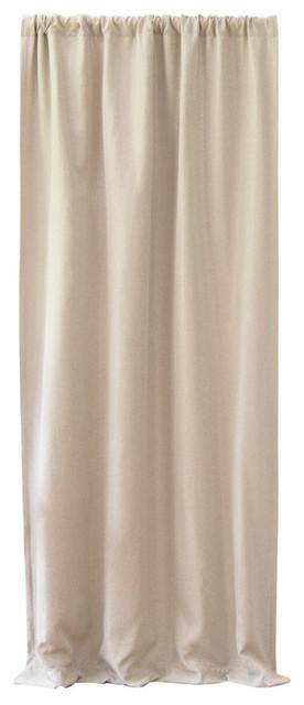 Faux Linen Blackout Curtain, Natural, 52x84.