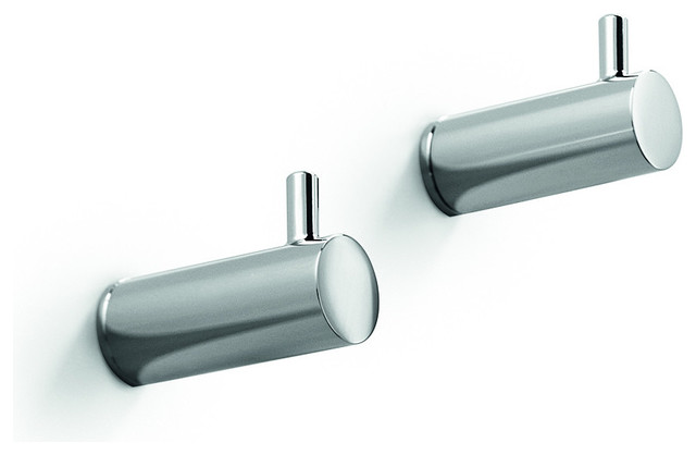 Lb Picola Brass Double Towel Hanger Set Of 2 Chrome Contemporary Robe Towel Hooks By Agm Home Store Houzz