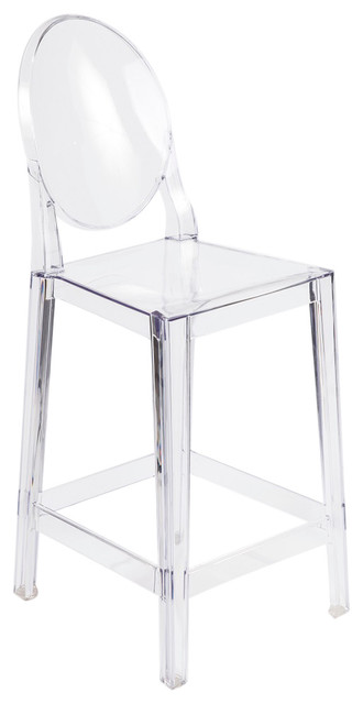 Control Brand Victoria Acrylic Counter Stool Clear Bar