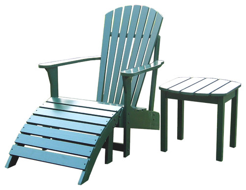 Yellow Or Hunter Green Adirondack Chair  Which Do You Prefer?