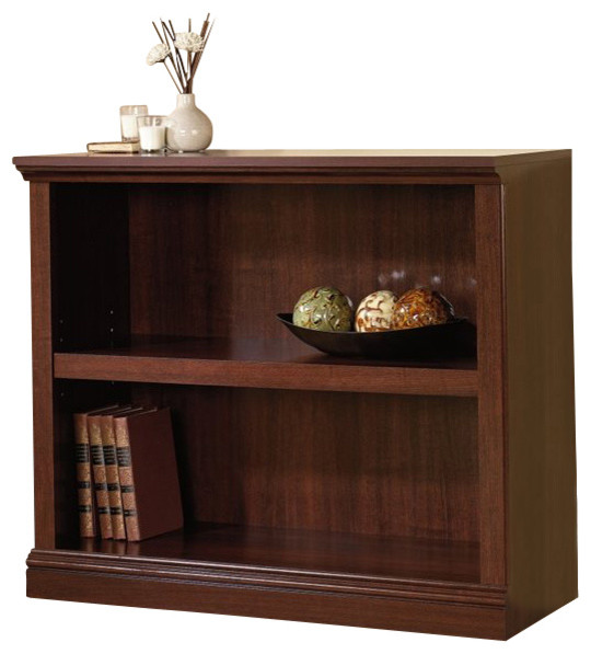 Sauder Select 2-Shelf Bookcase In Select Cherry.