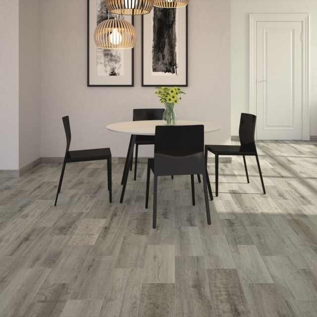 Kivu Wood Look Tiles   Grey   £11.65 Per Sq M Contemporary Dining