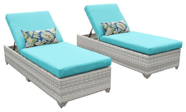Fairmont Patio Furniture.Fairmont Chaise Outdoor Wicker Patio Furniture Set Of 2