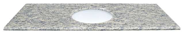 "61"" X 22"" Santa Cecilia Light Natural Granite Vanity Top."
