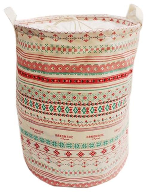 New British Style Foldable Large Laundry Basket, Hamper Storage, Bohemian.