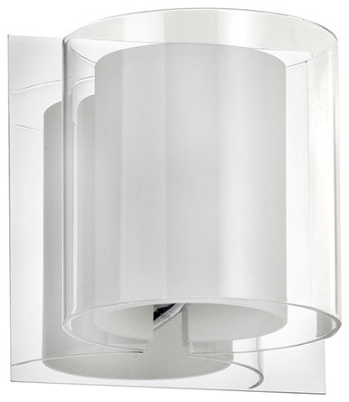 Flora 1-Light Double Glass Sconce - Transitional - Bathroom Vanity Lighting - by Dainolite Ltd.