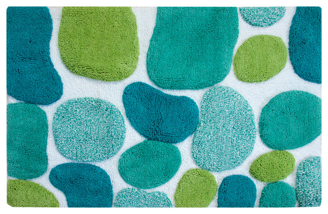 Pebbles Brights Bath Runner, Pool Blue.