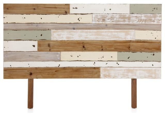T te de lit bois style bord de mer table de lit - Lit style bord de mer ...