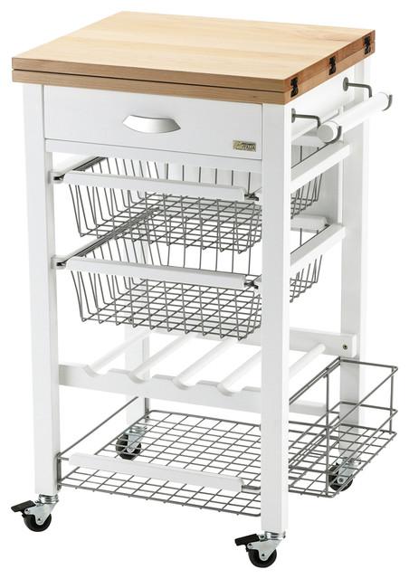 Gastone Kitchen Trolley, White