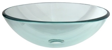 Templeton Crystal Glass Vessel Bathroom Sink Without Overflow Hole.