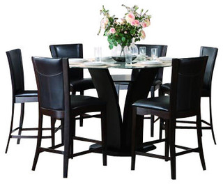 Homelegance Daisy 6-Piece Round Counter Height Dining Room Set