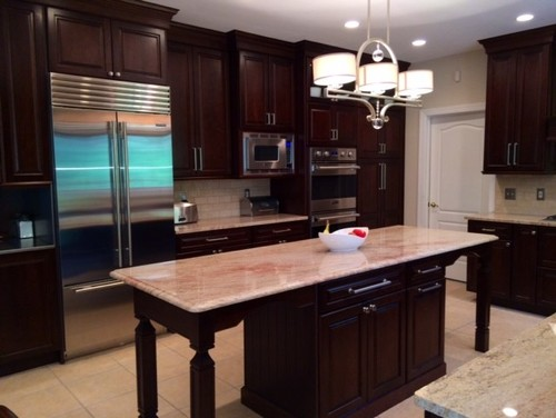 Cabinet height how did you decide for Kitchen cabinets 9 ft ceiling