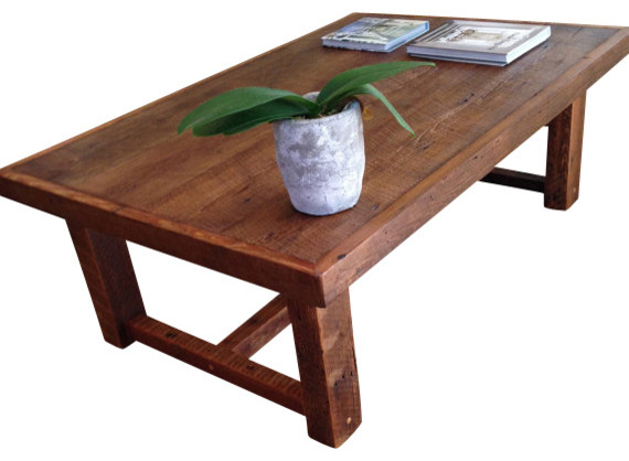 Bon Large Rustic Pi Coffee Table Made From Reclaimed New Orleans Barge Board