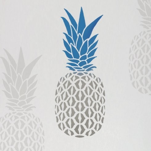 Pineapple Wall Art Stencil, Small Tropical Wall Stencils