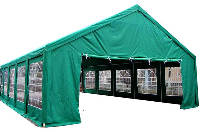 Tent 20&x27;x40&x27; Party Canopy Wedding Gazebo Reunion Carport Steel Pole Frame, Hunte.