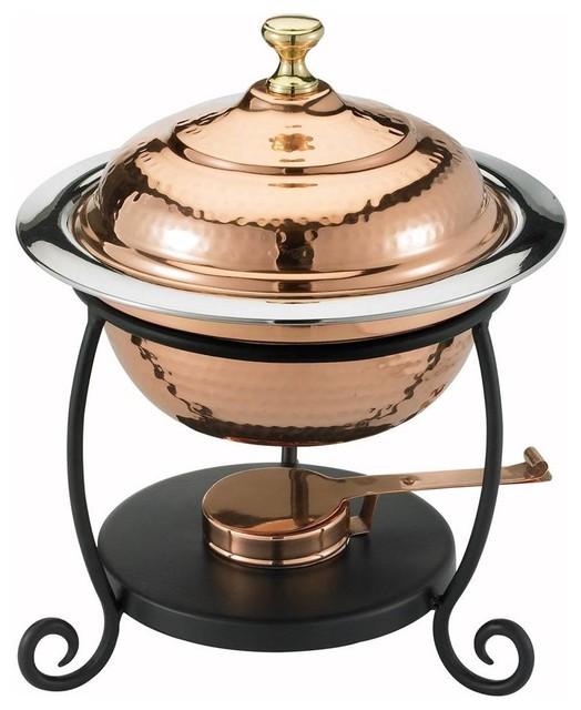 Round Decor Copper Chafing Dish.