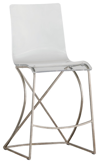Gabby Johnson Acrylic Counter Stool Contemporary Bar