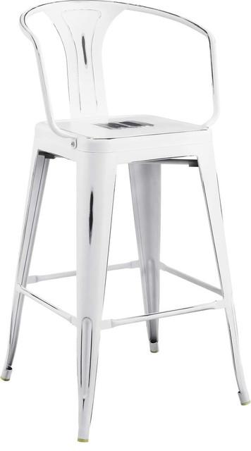 Wondrous Galton Metal Bar Stool White Pabps2019 Chair Design Images Pabps2019Com