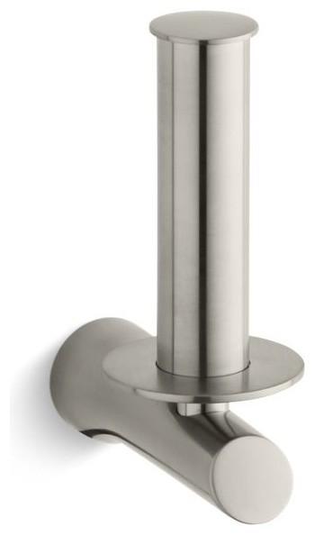 kohler toobi vertical toilet tissue holder contemporary toilet paper holders by the stock. Black Bedroom Furniture Sets. Home Design Ideas