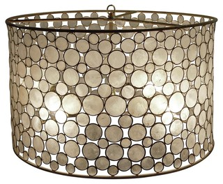 Oly Studio Serena Drum Pendant eclectic pendant lighting