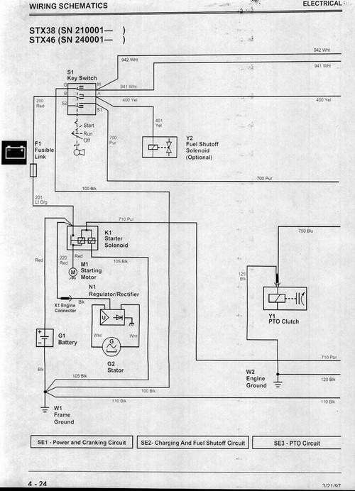 stx46 is dead p 1 deere stx46 schematic