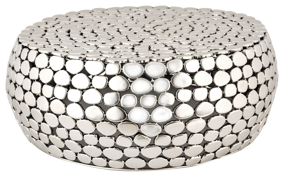 Dimond Pebble Accent Table, Nickel by Dimond