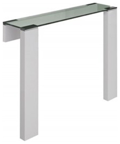 Jane High Gloss White Console Table Contemporary Console Tables