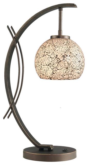 Eclipse Elliptic Ball Table Lamp, Metallic Bronze.