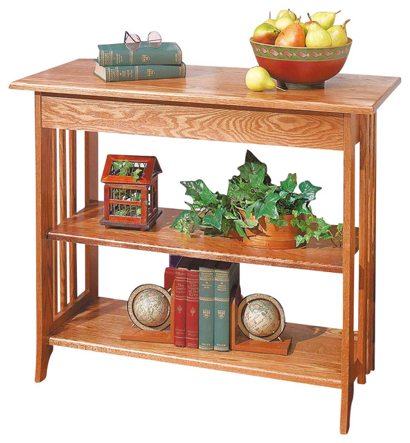Sofa Table Unfinished Oak Bookshelf Table Kit traditional-console-tables
