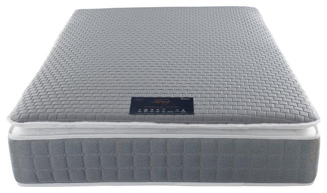 Rembrandt Pocket Sprung Memory Foam Pillow Top Medium Mattress, King 150 cm