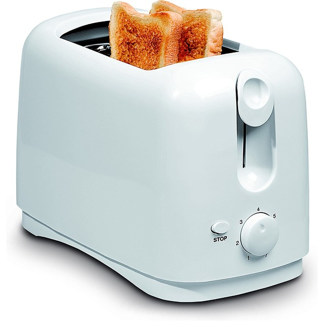 Uniware 8711WH Two Slice Wide Slots Toaster, 750 Watts, Cool Touch Exterior