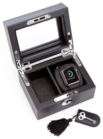 Royce Leather Luxury Smart Watch Box And Usb Charging Storage Unit.
