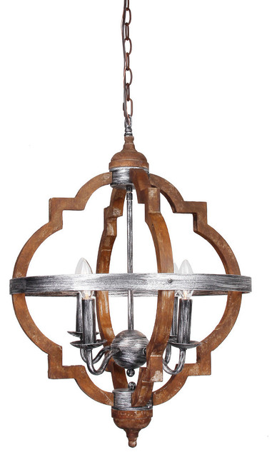 4-Light Hollis Steel Hall Pendant Light.