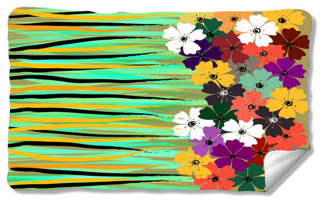 Flower Power Kitchen Mat.