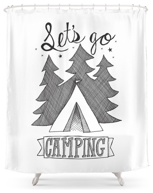 Let's Go Camping Shower Curtain - Contemporary - Shower Curtains ...