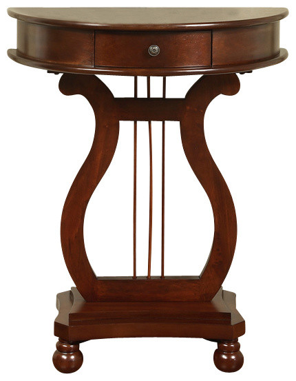 Beau Half Moon Harp Table
