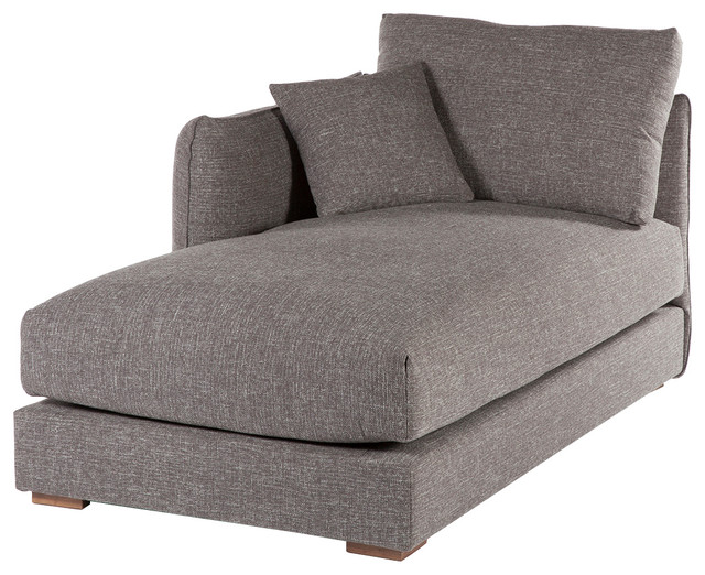 Section Lounge Sofa Twill Gray Modern Indoor Chaise Lounge Chairs