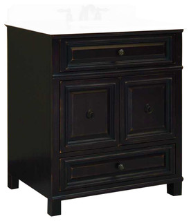 Barton Hill Assembled Vanity, 2 Doors, 1 Bottom Drawer