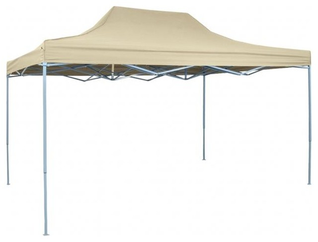 Onlinegymshop 9.8&x27;x14.8&x27; Pop-Up Marquee, Cream White.