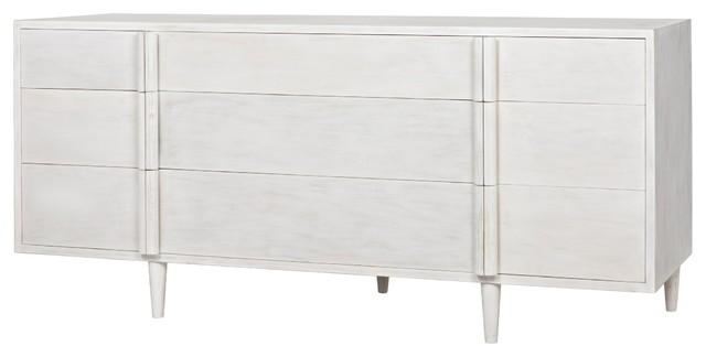 Dresser Solid Mahogany Wood 9 Drawers